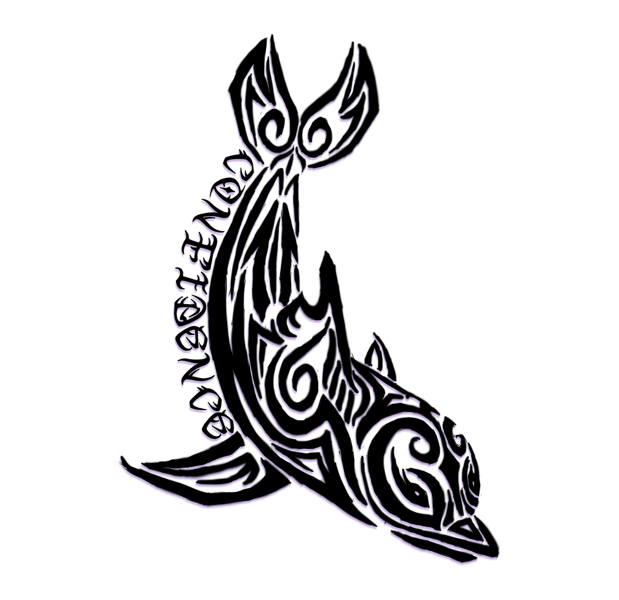 Tribal Dolphin Tattoo Design