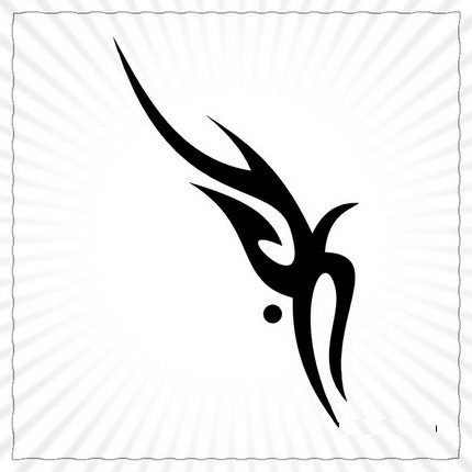Tribal Gemini Sign Tattoo Print