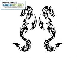 Tribal Seahorse Tattoo Designs