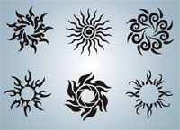 Tribal Sun Tattoo Sheet