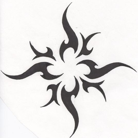 Tribal Sun Tattoo Version