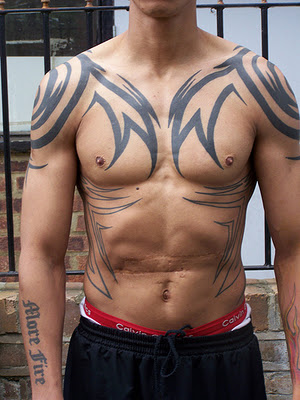Tribal Tattooed Body