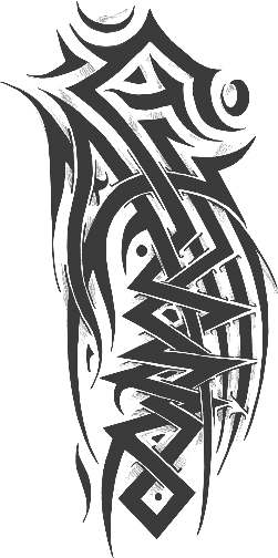 Tribal Temporary Sleeve Tattoo Designs