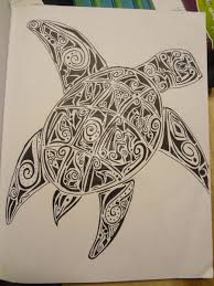 Tribal Turtle Outline Tattoo Page