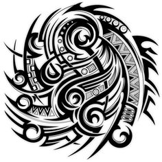 Tribal Warrior Tattoo Design