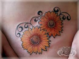 Twin Sunflower Tattoos