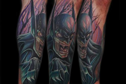 Vampire Batman Sleeve Tattoos