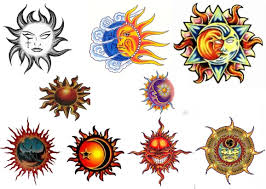 Various Sun Tattoo Designs