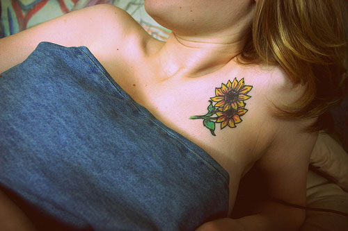 Very Nice Sunflowers Tattoos
