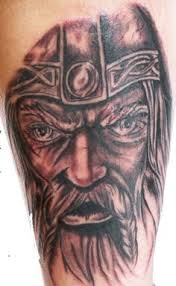 Viking Face Close Up Tattoo