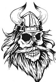 Viking Warrior Skull Tattoo Sample