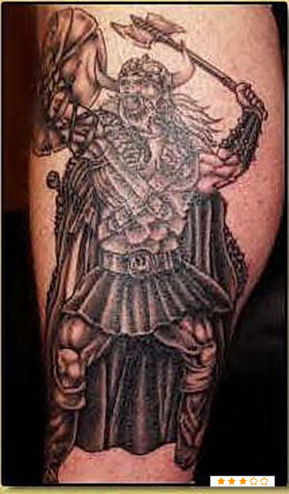 Warrior Viking Tattoo