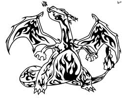 Winged Tribal Dragon Tattoo Design