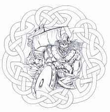 Without Color Celtic Viking Tattoo Design