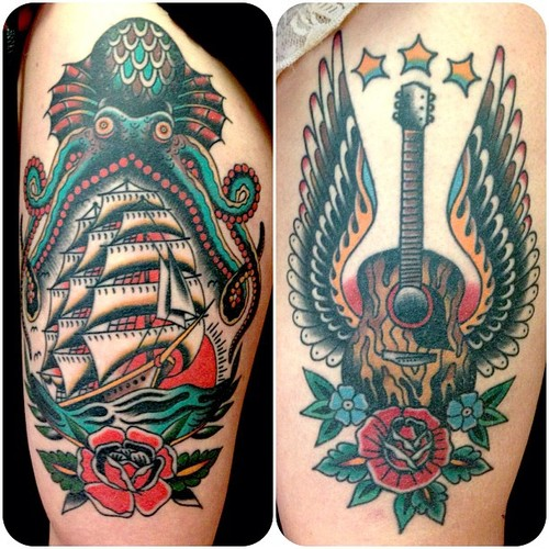 Wonderful Traditional Tattoos