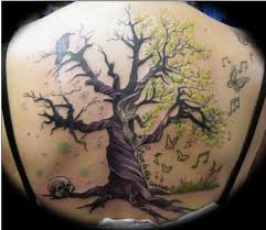 Wonderful Tree Tattoo On Upper Back