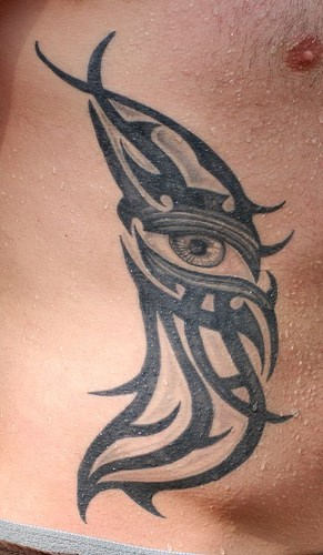 Wonderful Tribal Eye Tattoo For Men