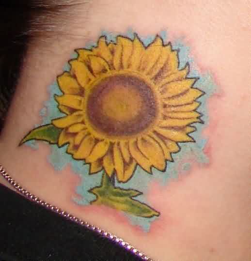 Yellow Sunflower Tattoo