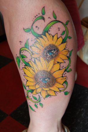 Yellow Sunflower Tattoos