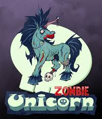 Zombie Unicorn Tattoo Cover