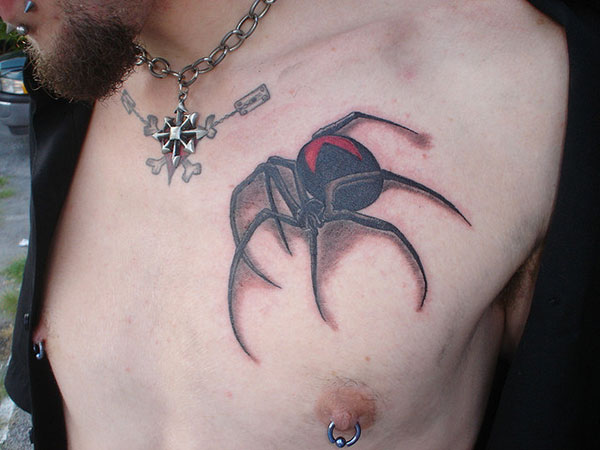 3D Spider Tattoo Style For Young Guys
