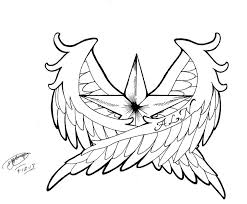 Nautical Star In Wings Tattoo Design