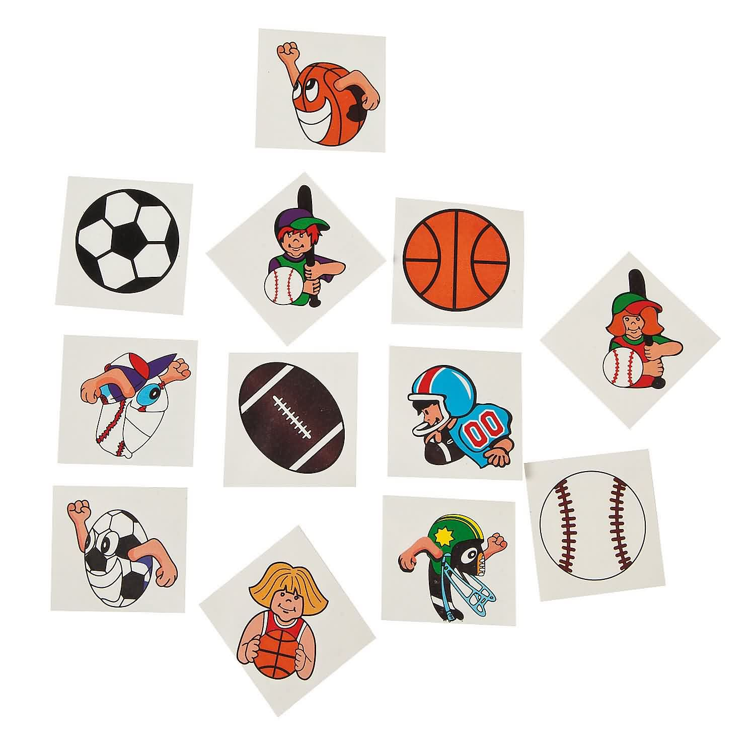 New Colorful Sports Tattoos Sticker