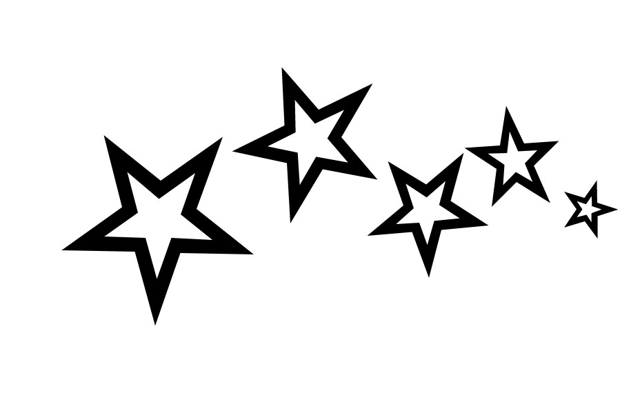 New Outline Star Tattoo Designs