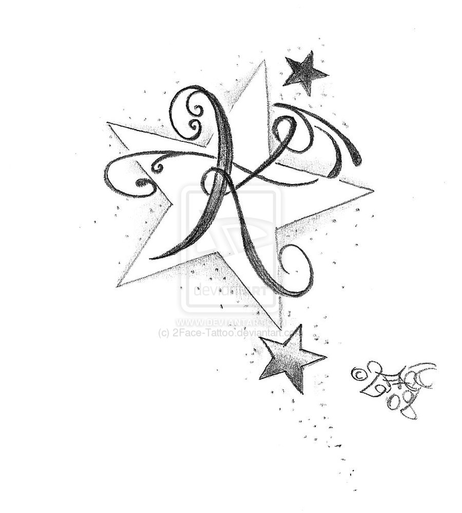 Once Again Star Tattoos Sketch