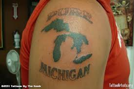Pure Michigan - Sports Tattoo