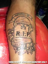 RIP Skateboard Tattoo