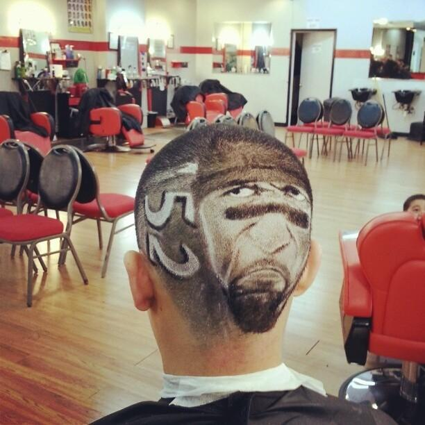Ray Lewis Haircut Tattoo Style