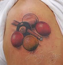 Realistic Pool Balls Tattoos On Shoulder