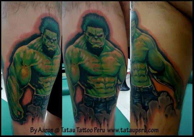 Shaded Hulk Tattoos