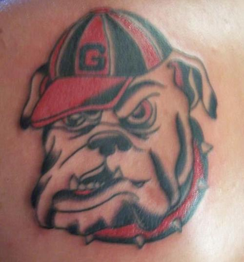Sports Bulldog Tattoo