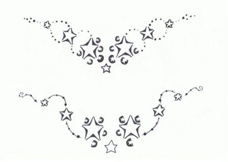 Star Tattoos For Lowerback