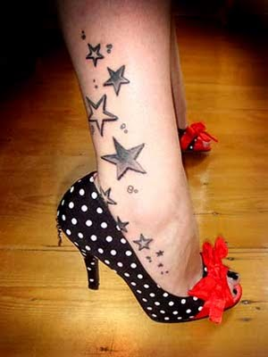 Stars Ankle Tattoos Trend For Girls
