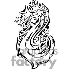 Tribal Star Tattoos Graphic