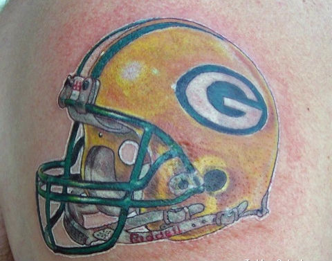 Truly Amazing Sports Helmet Tattoo