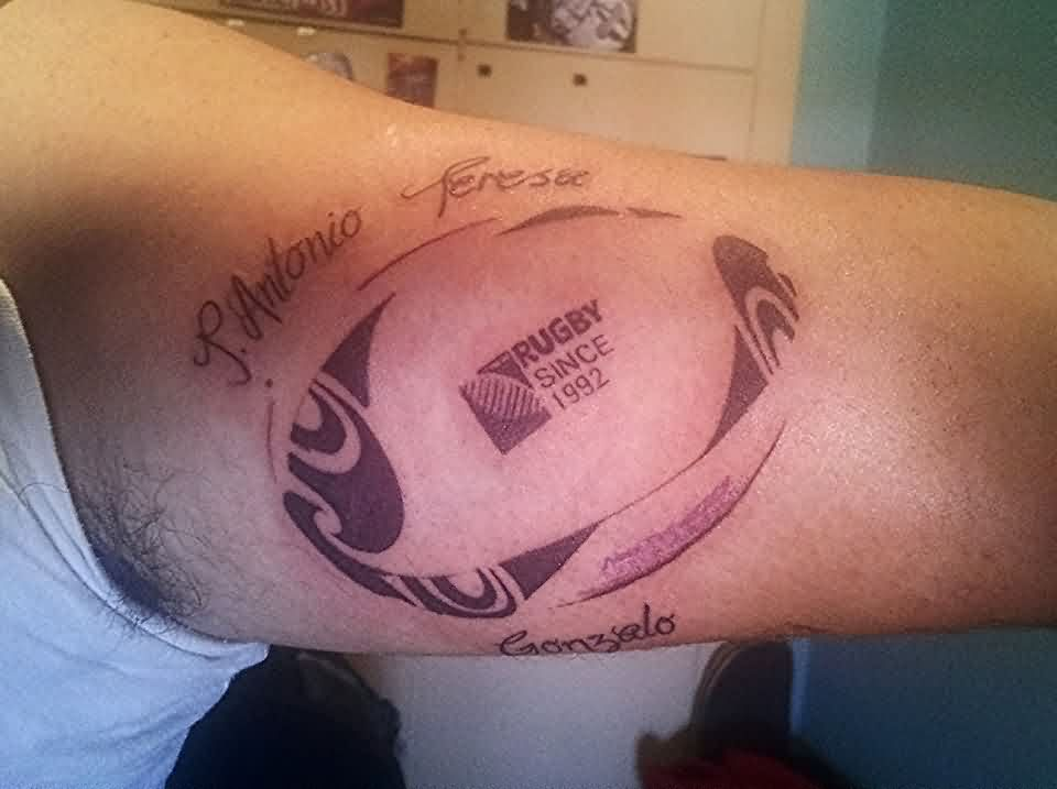 Unforgettable Rugby Ball Tattoo