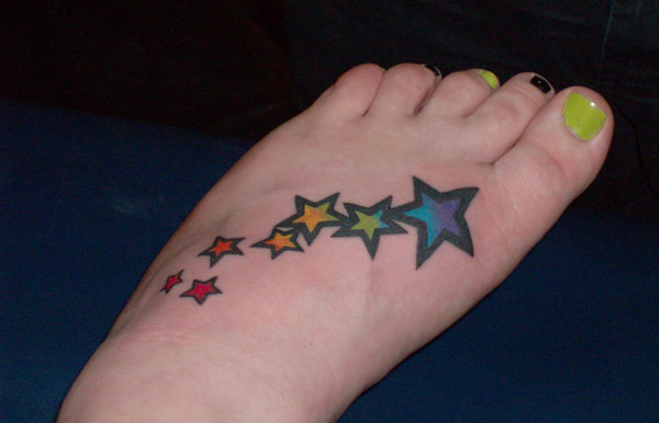 Unforgettable Star Tattoos On Foot