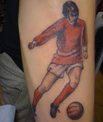 Wonderful Football Player Tattoo