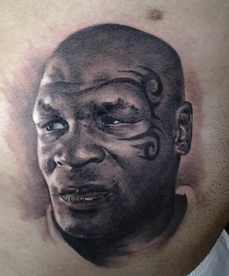 Wonderful Mike Tyson Portrait Tattoo