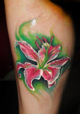 A Sparkling Orchid Tattoo