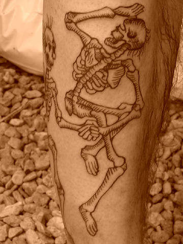 Again Dancing Skeletons Tattoos
