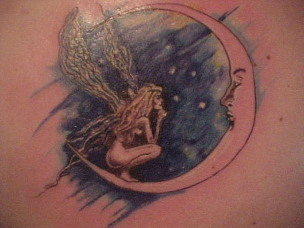 Again Fairy Moon Tattoo