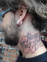 Always Rock Neck Tattoo