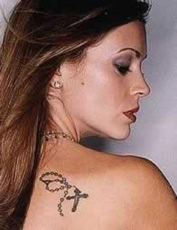 Alyssa Milano's Shoulder Tattoo