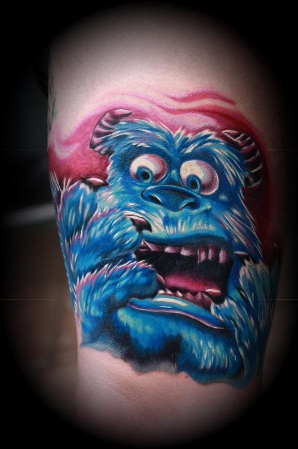 Amazing Cookie Monster Tattoo