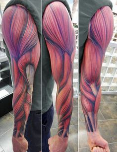 Amazing Full Sleeve Muscles Tattoos